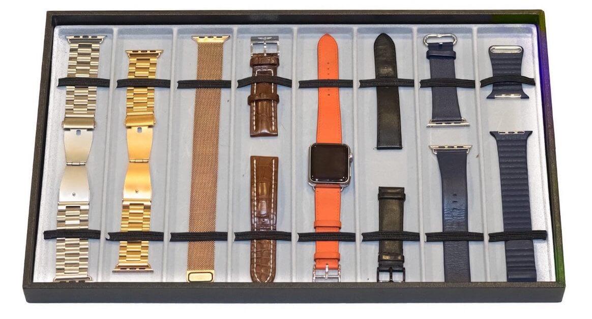 Klockarmbands kollektion många färger och material